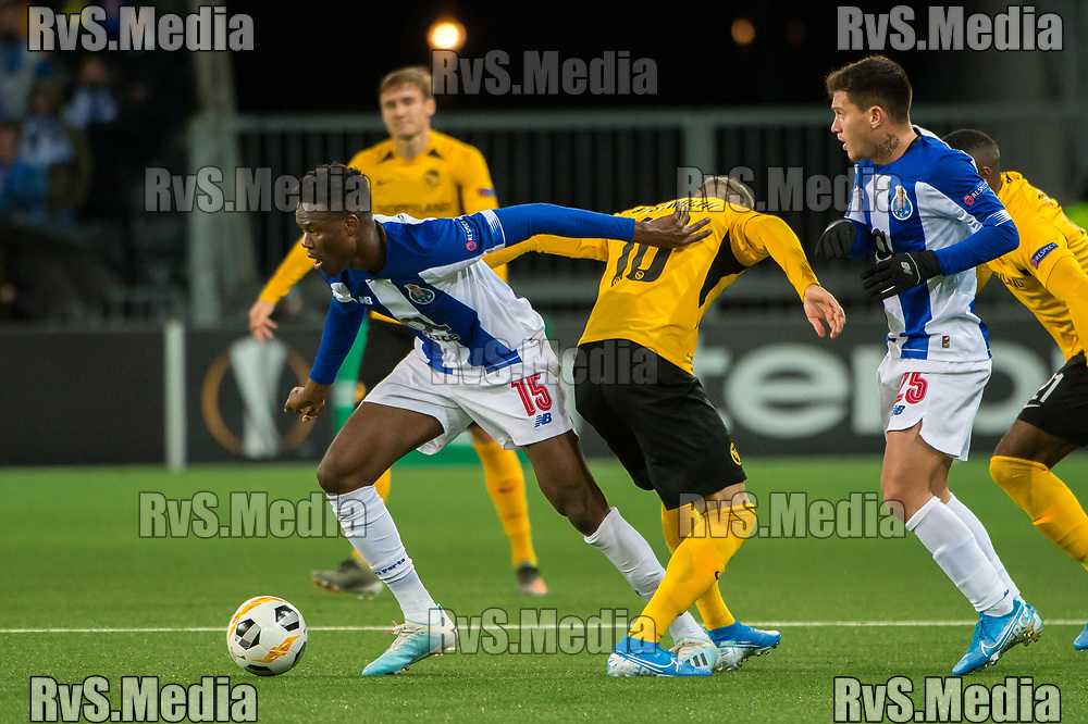 BERN, SWITZERLAND - NOVEMBER 28: #15 Mamadou Ndiyae of FC Porto in action during the UEFA Europa League group G match between BSC Young Boys and FC Porto at Stade de Suisse, Wankdorf on November 28, 2019 in Bern, Switzerland. (Photo by Robert Hradil/RvS.Media)