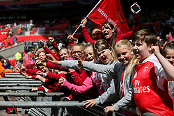 Arsenal Ladies FC fans Stevenage Borough Juniors FC - Mandatory byline: Jason Brown/JMP - 14/05/2016 - FOOTBALL - Wembley Stadium - London, England - Arsenal Ladies v Chelsea Ladies - SSE Women's FA Cup