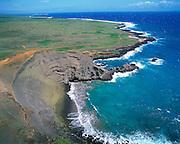 Green Sand Beach, South Point, Island of Hawaii, Hawaii, USA<br />