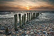 Sunset over The Wash at Snettisham, Norfolk, Uk