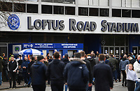 Football - 2018 / 2019 FA Cup - Third Round: Queens Park Rangers vs. Leeds United<br /> <br /> Fans gathering, at Loftus Road.<br /> <br /> COLORSPORT/ASHLEY WESTERN