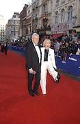 Michael and Mary Parkinson . TV Bafta Awards. 21 April 2002. © Copyright Photograph by Dafydd Jones 66 Stockwell Park Rd. London SW9 0DA Tel 020 7733 0108 www.dafjones.com