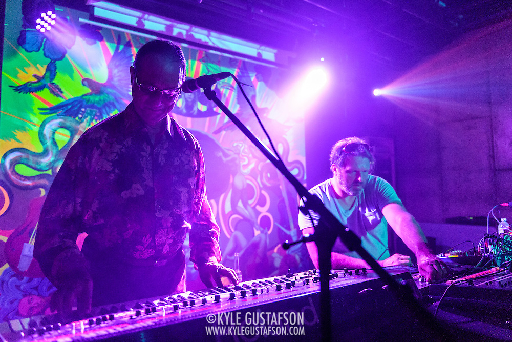 WASHINGTON, DC - August 7th, 2014 - Indian electronic music pioneer Charanjit Singh (left) performs songs from his seminal album, Ten Ragas to a Disco Beat, at Tropicalia in Washington, D.C. (Photo by Kyle Gustafson / For The Washington Post)