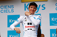 Podium, Soren Kragh Andersen (DEN - Team Sunweb) White jersey, young rider, during the 105th Tour de France 2018, Stage 8, Dreux - Amiens Metropole (181km) on July 14th, 2018 - Photo Luca Bettini / BettiniPhoto / ProSportsImages / DPPI