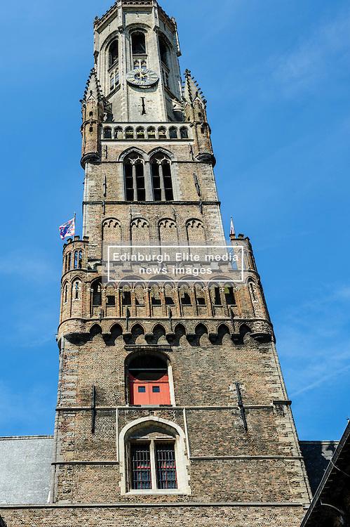 The belfry of Bruges, or Belfort, is a medieval bell tower in the historical centre of Bruges, Belgium.<br /> <br /> (c) Andrew Wilson   Edinburgh Elite media