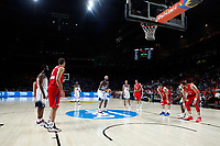 United States´s players and Serbia´s players during FIBA Basketball World Cup Spain 2014 final match between United States and Serbia at `Palacio de los deportes´ stadium in Madrid, Spain. September 14, 2014. (ALTERPHOTOSVictor Blanco)