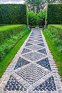 Stone Walkway, Garden, Highland Terrrace, Bridgehampton, NY