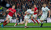 Twickenham, England, 7th March 2020, Mark WILSON, on the attack during the Guinness Six Nations, International Rugby, England vs Wales, RFU Stadium, United Kingdom, [Mandatory Credit; Peter SPURRIER/Intersport Images]