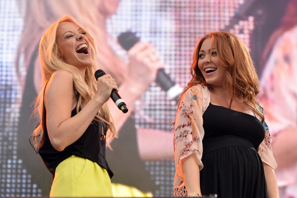 Friday 1st August <br /> Lytham Proms , 80s vs 90s night , Atomic Kitten stars  <br /> Liz McClarnon,Natasha Hamilton ,Kerry Katona did not perform due to her recent problems with her partner , Pix Dave nelson