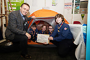 24/11/2019 repro free:<br /> Scouts and Paul Mee Galway Science and Technology Festival Chairman at  the Galway Science and Technology Festival  at NUI Galway where over 20,000 people attended exhibition stands  from schools to Multinational Companies . Photo:Andrew Downes, xposure