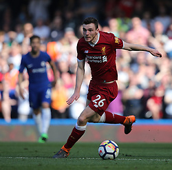 May 6, 2018 - London, Greater London, United Kingdom - Andrew Robertson of Liverpool  during English Premier League match between Chelsea and Liverpool at Stamford Bridge, London, England on 6 May 2018. (Credit Image: © Kieran Galvin/NurPhoto via ZUMA Press)
