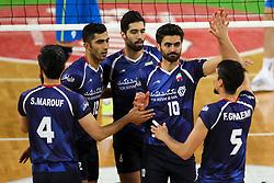 Players of Iran celebrate at exhibition game between Slovenia and Iran, on May 15, 2017 in SRC Stozice, Ljubljana, Slovenia. Photo by Matic Klansek Velej / Sportida