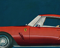 Development of the Ferrari 250 GT SWB Berlinetta was handled by Giotto Bizzarrini, Carlo Chiti, and young Mauro Forghieri, the same team that later produced the 250 GTO. Disc brakes were a first on a Ferrari GT, and the combination of low weight, high power, and well-sorted suspension made it competitive. It was unveiled at the Paris Motor Show in October and quickly began selling and racing. The SWB Berlinetta won Ferrari the GT class of the 1961 Constructor's Championship. Also won 1960, 1961 and 1962 Tour de France Automobile before giving ground to the GTO's. –<br /> <br /> <br /> BUY THIS PRINT AT<br /> <br /> FINE ART AMERICA<br /> ENGLISH<br /> https://janke.pixels.com/featured/1-ferrari-250-gt-swb-berlinetta-1957-jan-keteleer.html<br /> <br /> WADM / OH MY PRINTS<br /> DUTCH / FRENCH / GERMAN<br /> https://www.werkaandemuur.nl/nl/shopwerk/Ferrari-250-GT-SWB-Berlinetta-1957/544601/134