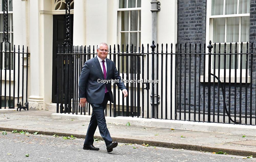 Scott Morrison attend 10 Downing street on 14th June 2021, London, UK.
