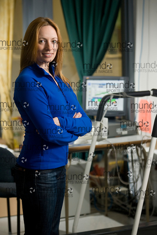 London, Ontario ---22/05/08--- PhD Candidate Margie Davenport works in the R. Samuel McLaughlin Exercise and Pregnancy Lab at the University of Western Ontario..GEOFF ROBINS /Conduit