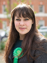© Licensed to London News Pictures. 01/05/2015. London, UK. Green Party deputy leader Amelia Womack today at the launch of Green Party's LGBTIQ manifesto today in Soho, central London. Ms Bennett announced Green pledges to review the discriminatory blood ban and introduce LGBTIQ-inclusive sex education. Photo credit: LNP