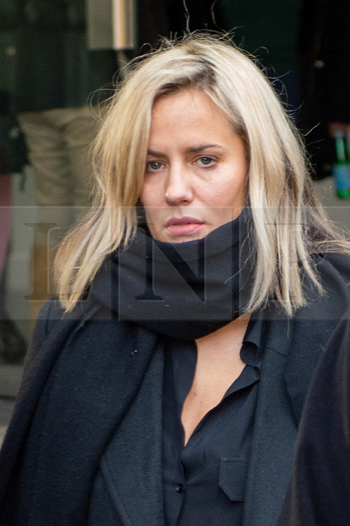 © Licensed to London News Pictures. 23/12/2019. London, UK. Caroline Flack departs Highbury Corner Magistrates' Court. Photo credit: Peter Manning/LNP