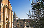 Israel, Lower Galilee, Nazareth. Christ Church. The Protestant-Anglican Christ Church in Nazareth was built in 1871, close to the Basilica of Annunciation. It hosted the Episcopal Christ school. The Basilica can be seen in the background