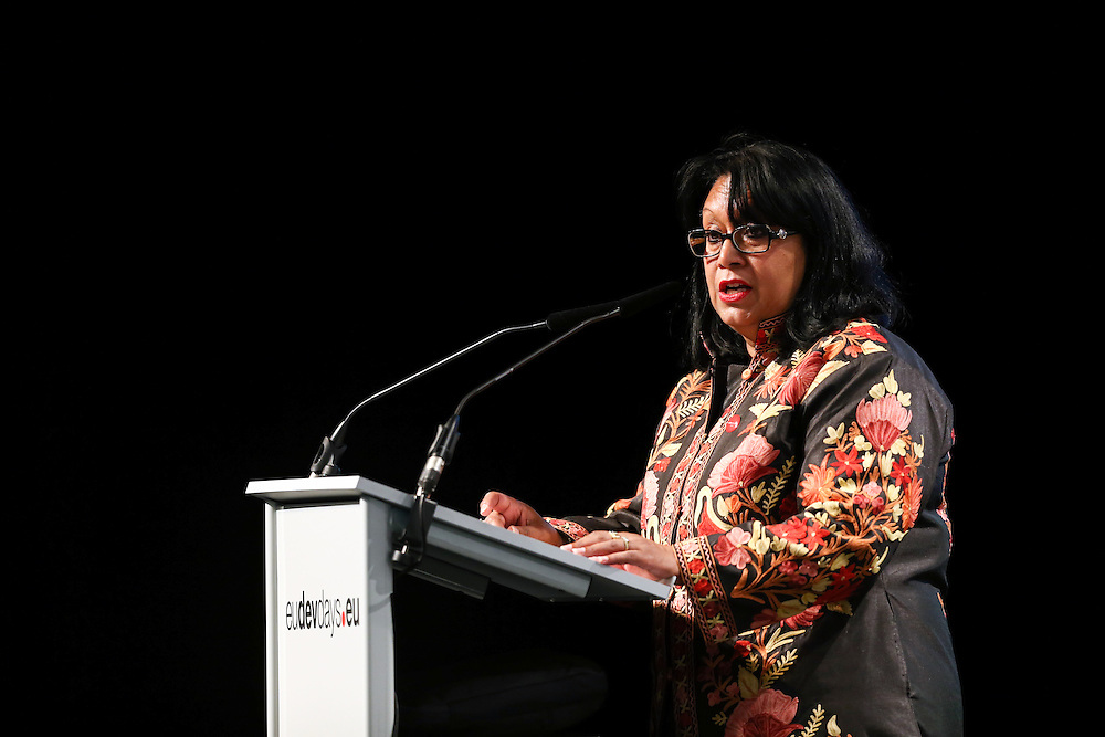 03 June 2015 - Belgium - Brussels - European Development Days - EDD - Food - Joining forces to make undernutrition history - Baroness Verma , Parliamentary Undersecretary of State at the Department for International Development , United Kingdom © European Union