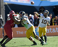 January 1, 2008 - Dallas, TX...Quarterback Chase Daniel of the Missouri Tigers fires the ball down field in the third quarter against the Arkansas Razorbacks, during the 72nd AT&T Cotton Bowl Classic at the Cotton Bowl in Dallas, Texas on January 1, 2008...The Tigers defeated the Razorbacks 38-7.  .Peter G. Aiken/CSM.
