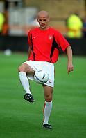 Fotball. 2002/2003. 06.08.2002.<br /> Barnet v Arsenal.<br /> Pascal Cygan, Arsenal.<br /> Foto: Matthew Impey, Digitalsport