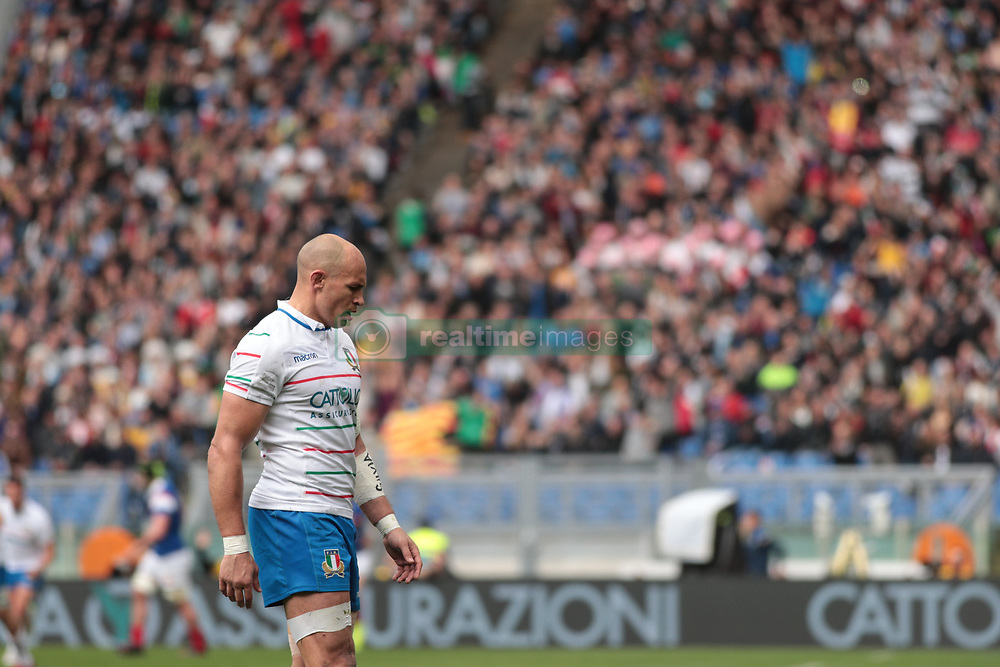 March 16, 2019 - Rome, Rome, Italy - Sergio Parisse during the Guinness Six Nations match between Italy and France at Stadio Olimpico on March 16, 2019 in Rome, Italy. (Credit Image: © Emmanuele Ciancaglini/NurPhoto via ZUMA Press)