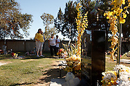 Melani Travioli visits the roadside memorial for her son Eric Gary Travioli. Melani is a member of the support group Mothers of an Angel Friendship Network.<br /> <br /> Eric Gary Travioli was a seventeen year old senior at Kerman High School in Kerman, California when he died.