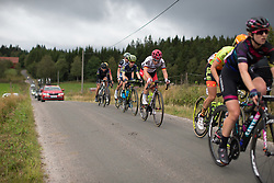 Lisa Klein (GER) of Cervélo-Bigla Cycling Team digs deep on the second gravel sectdion of the Crescent Vargarda - a 152 km road race, starting and finishing in Vargarda on August 13, 2017, in Vastra Gotaland, Sweden. (Photo by Balint Hamvas/Velofocus.com)