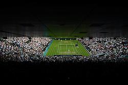 © Licensed to London News Pictures. 25/06/2014. LONDON, UK Wimbledon Tennis Championships 2014<br /> Day 3. Novak Djookovic, SRB v Radek Stepanek, CZE on Centre Court.  Photo credit : Mike King/LNP