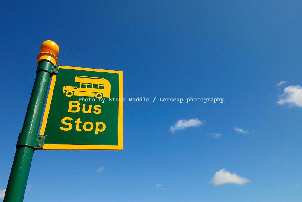 Bus Stop Sign - August 2009