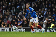 Tom Naylor (4) of Portsmouth during the EFL Sky Bet League 1 match between Portsmouth and Ipswich Town at Fratton Park, Portsmouth, England on 21 December 2019.