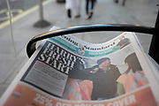 Harrys Fresh Start headline on the Evening Standard newspaper on 21st January 2020 in London, England, United Kingdom. Earlier it had been reported that after recent controversy and discussion amongst members of the royal family, that Prince Harry had flown out of the UK to be with his wife Meghan and their family. Prince Harry and Markle announced recently that they will step back from their roles as senior royals to share their time between the UK and Canada, and to continue both their charity work and continue to a degree their royal responsibilities.