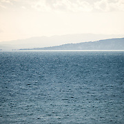 A view out over the Sea of Marmaro on a quiet morning off Istanbul, Turkey.