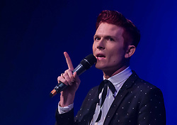 Underbelly launches its 20th year at the Edinburgh Festival with a preview hosted by Rhys Nicholson<br /> <br /> Pictured: Compere Rhys Nicholson