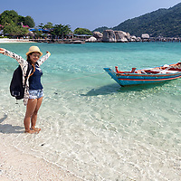 Pare on Koh Nangyuan beach, a small island located next to Koh Tao.