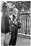 BILL CUNNINGHAM, TOMPKINS SQ. PARK, NEW YORK. 1993,<br /> <br /> SUPPLIED FOR ONE-TIME USE ONLY> DO NOT ARCHIVE. © Copyright Photograph by Dafydd Jones 248 Clapham Rd.  London SW90PZ Tel 020 7820 0771 www.dafjones.com