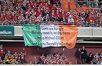 22 June 2013; British & Irish Lions supporters at the game. British & Irish Lions Tour 2013, 1st Test, Australia v British & Irish Lions, Suncorp Stadium, Brisbane, Queensland, Australia. Picture credit: Stephen McCarthy / SPORTSFILE