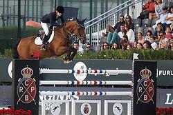 Alexander Edwina, (AUS), Heidi Du Ruisseau Z <br /> First Round<br /> Furusiyya FEI Nations Cup Jumping Final - Barcelona 2015<br /> © Dirk Caremans<br /> 24/09/15