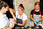 New York, NY - August 13, 2018: Chef Daniela Moreira of Timber Pizza in Washington DC presents a 'Neapolitan-ish' dinner at the James Beard House in Greenwich Village.<br /> <br /> <br /> CREDIT: Clay Williams for the James Beard Foundation.<br /> <br /> © Clay Williams / http://claywilliamsphoto.com