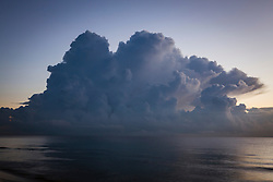 storm cloud over the ocean in Fort Lauderdale, Florida