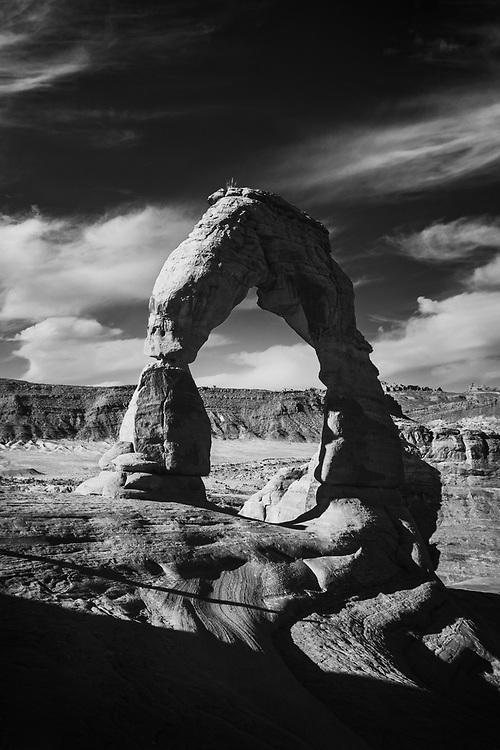 Delicate Arch Landscape at Arches National Park near Moab, Utah. ©justinalexanderbartels.com