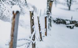 THEMENBILD - auf einem Zaun liegt Neuschnee, aufgenommen am 29. Jänner 2020 in Kaprun, Oesterreich // there is fresh snow on a fence, in Kaprun, Austria on 2020/01/29. EXPA Pictures © 2020, PhotoCredit: EXPA/Stefanie Oberhauser