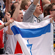 NLD/Rotterdam/20060507 - Finale competitie 2005/2006 Gatorade cup Ajax - PSV, publiek, fans van Ajax, tribune, met joodse vlag