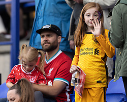 BIRKENHEAD, ENGLAND - Sunday, August 29, 2021: Liverpool supporters during the FA Women's Championship game between Liverpool FC Women and London City Lionesses FC at Prenton Park. London City won 1-0. (Pic by Paul Currie/Propaganda)