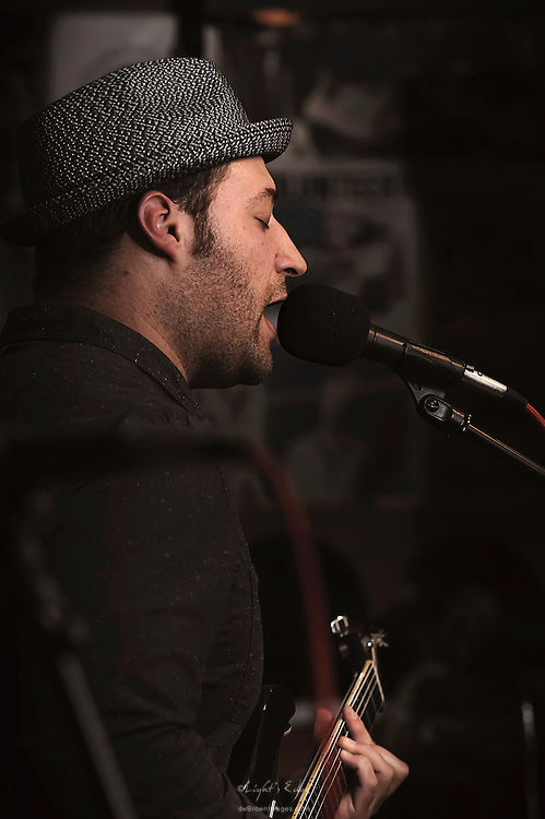 Jason Ager during his band's last performance at The Bus Stop Music Cafe in Pitman, NJ.