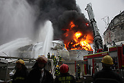 ZHANGZHOU, CHINA - APRIL 07: (CHINA OUT)<br /> <br /> Chemical Plant Explodes In East China<br /> <br /> Smoke rise from the explosion site of PX chemical plant on April 7, 2015 in Zhangzhou, Fujian province of China. Explosion hit Zhangzhou PX chemical plant at 18:58 on April 6 due to oil leaking with no casualty found.<br /> ©Exclusivepix Media