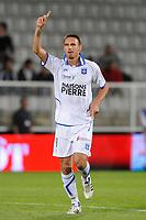 FOOTBALL - FRENCH CHAMPIONSHIP 2011/2012 - L1 - AJ AUXERRE v AC AJACIO  - 27/08/2011 - PHOTO GUY JEFFROY / DPPI - JOY ANTHONY LE TALLEC (AUX)