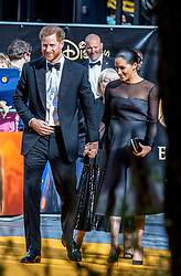 July 14, 2019 - London, London, United Kingdom - The Duke and Duchess of Sussex attend the Premiere of 'The Lion King.'.Lion King Premiere, Leicester Square, London. (Credit Image: © Mark Thomas/i-Images via ZUMA Press)