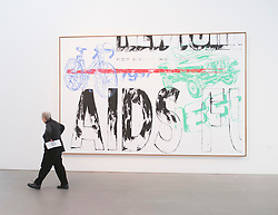Painting Aids/Jeep/Bicycle by Andy Warhol at Pinakothek Moderne art museum in Munich Germany