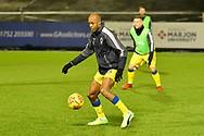 Jimmy Abdou (8) of AFC Wimbledon warming up before the EFL Sky Bet League 1 match between Plymouth Argyle and AFC Wimbledon at Home Park, Plymouth, England on 13 February 2018. Picture by Graham Hunt.